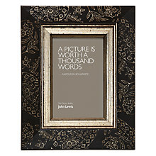 "Buy John Lewis Paisley Photo Frame, Black/ Gold, 4 x 6"" (10 x 15cm) Online at johnlewis.com"