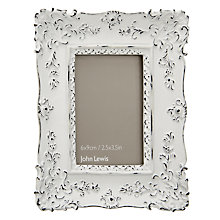 Buy John Lewis French Photo Frame, White,  2.5 x 3.5 (6 x 9cm) Online at johnlewis.com