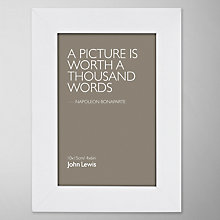"Buy John Lewis Poplar Photo Frame, White, 4 x 6"" (10 x 15cm) Online at johnlewis.com"