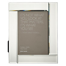 "Buy John Lewis Deco Glass Photo Frame, 5 x 7"" (13 x 18cm) Online at johnlewis.com"