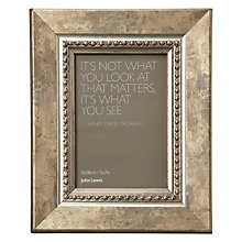 "Buy John Lewis Distressed Bead Photo Frame, Gold, 5 x 7"" (13 x 18cm) Online at johnlewis.com"