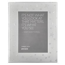 "Buy John Lewis Mirrored Star Photo Frame, 5 x 7"" (13 x 18cm) Online at johnlewis.com"