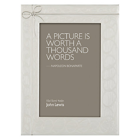 "Buy John Lewis Ribbon Photo Frame, 4 x 6"" (10 x 15cm) Online at johnlewis.com"