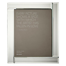 "Buy John Lewis Deco Glass Photo Frame, 8 x 10"" (20 x 25cm) Online at johnlewis.com"