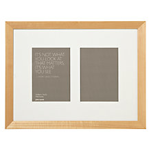 "Buy John Lewis Multi-aperture Gallery Frame, Birch, 2 Photo, 5 x 7"" (13 x 18cm) Online at johnlewis.com"
