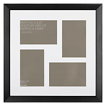 "Buy John Lewis Multi-aperture Gallery Frame, Black, 4 Photo, 4 x 6"" (10 x 15cm) Online at johnlewis.com"