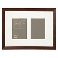 "Buy John Lewis Multi-aperture Gallery Frame, Chocolate, 2 Photo, 5 x 7"" (13 x 18cm) Online at johnlewis.com"