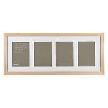 "Buy John Lewis Multi-aperture Gallery Frame, Birch, 4 Photo, 5 x 7"" (13 x 18cm) Online at johnlewis.com"