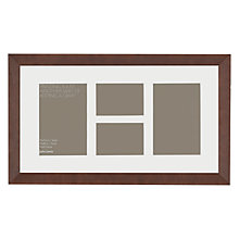 "Buy John Lewis Multi-aperture Gallery Frame, Chocolate, 4 Photo, 3 x 4"" (8 x 10cm) and 4 x 6"" (10 x 15cm) Online at johnlewis.com"