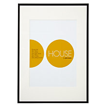 Buy House by John Lewis Photo Frame, Matt Black, A2 with A3 Mount Online at johnlewis.com
