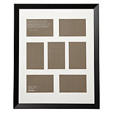 "Buy John Lewis Multi-aperture Gallery Frame, Black, 7 Photo, 4 x 6"" (10 x 15cm) Online at johnlewis.com"