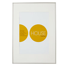 Buy House by John Lewis Photo Frame, Frosted Silver, A1 with A2 Mount Online at johnlewis.com