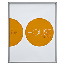"Buy House by John Lewis Photo Frame, Frosted Silver, 16 x 19"" (40 x 50cm) Online at johnlewis.com"