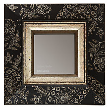 "Buy John Lewis Paisley Photo Frame, Black/ Gold, 3 x 3"" (8 x 8cm) Online at johnlewis.com"