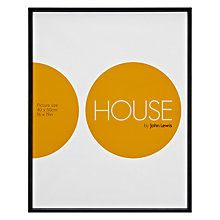 "Buy House by John Lewis Photo Frame, Matt Black, 16 x 19"" (40 x 50cm) Online at johnlewis.com"