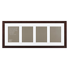"Buy John Lewis Multi-aperture Gallery Frame, Chocolate, 4 Photo, 5 x 7"" (13 x 18cm) Online at johnlewis.com"
