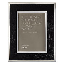 "Buy John Lewis Amer Photo Frame, Black, 5 x 7"" (13 x 18cm) Online at johnlewis.com"