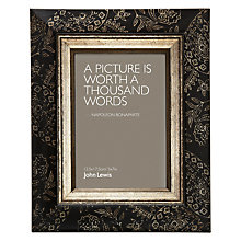 "Buy John Lewis Paisley Photo Frame, Black/ Gold, 5 x 7"" (13 x 18cm) Online at johnlewis.com"