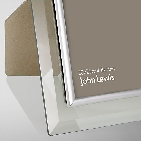 Buy John Lewis Glass Metal Border Photo Frame, 8 x 10 (20 x 25cm) Online at johnlewis.com