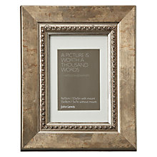 "Buy John Lewis Distressed Bead Photo Frame with Mount, Gold, 3.5 x 5"" (9 x 13cm) Online at johnlewis.com"