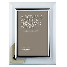 "Buy John Lewis Glass Metal Border Photo Frame, 4 x 6"" (10 x 15cm) Online at johnlewis.com"