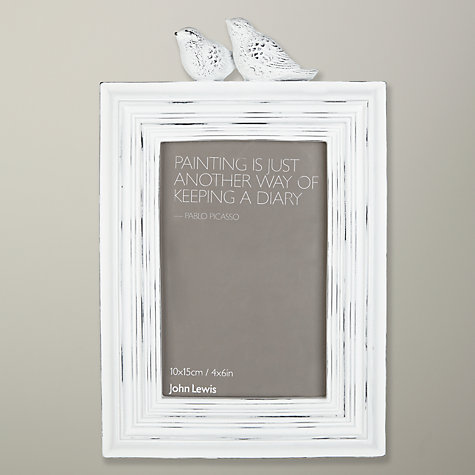 "Buy John Lewis French Birds Photo Frame, White, 4 x 6"" (10 x 15cm) Online at johnlewis.com"