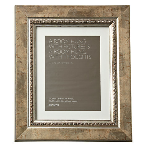 "Buy John Lewis Distressed Bead Photo Frame with Mount, Gold, 6 x 8"" (15 x 20cm) Online at johnlewis.com"