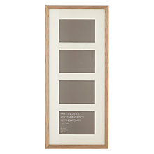 "Buy John Lewis Multi-aperture Frame, 4 Photo, 4 x 6"" (10 x 15cm), Oak Online at johnlewis.com"
