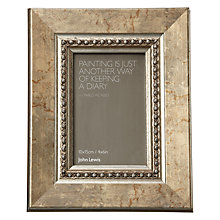 "Buy John Lewis Distressed Bead Photo Frame, Gold, 4 x 6"" (10 x 15cm) Online at johnlewis.com"