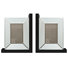 "Buy John Lewis Photo Frame Mirrored Bookends, Set of 2, 4 x 6"" (10 x 15cm) Online at johnlewis.com"