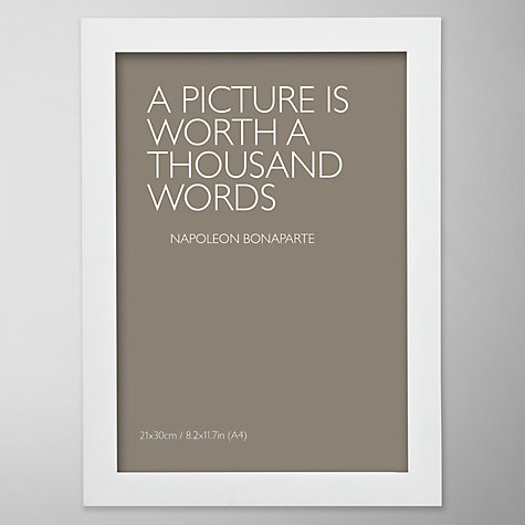 Buy John Lewis Poplar Photo Frame, White, A4 (21 x 30cm) Online at johnlewis.com