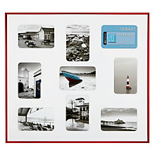 "Buy Nielsen Pixel Collage Multi-aperture Frame, 9 Photo, 4 x 6"" (10 x 15), Red Online at johnlewis.com"