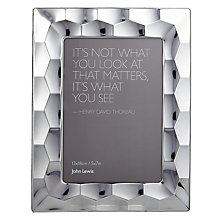"Buy John Lewis Odyssey Photo Frame, 5 x 7"" (13 x 18cm) Online at johnlewis.com"