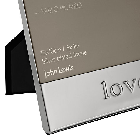"Buy John Lewis Moments Love Photo Frame, Silver, 4 x 6"" (10 x 15cm) Online at johnlewis.com"