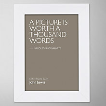 "Buy John Lewis Poplar Photo Frame, White, 5 x 7"" (13 x 18cm) Online at johnlewis.com"