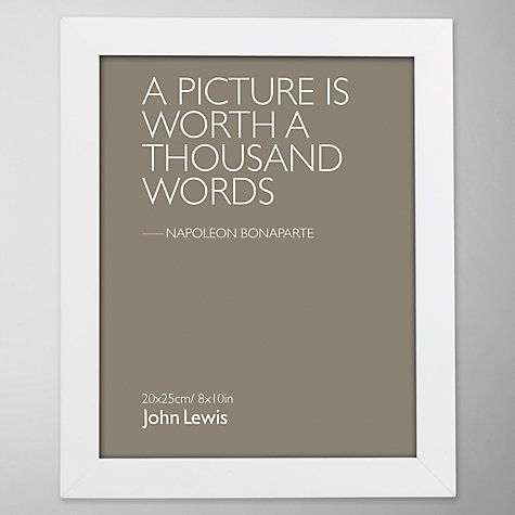 "Buy John Lewis Poplar Photo Frame, White, 8 x 10"" (20 x 25cm) Online at johnlewis.com"