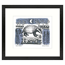Buy Adelene Fletcher - Moonlit Badger Framed Print, 49 x 44cm Online at johnlewis.com