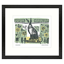Buy Adelene Fletcher - Spring Hare Framed Print, 49 x 44cm Online at johnlewis.com