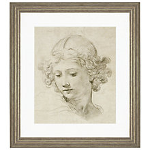 Buy Pietro Berrettini da Cortona - Head of an Angel Framed Print, 56 x 50cm Online at johnlewis.com