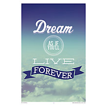 Buy House by John Lewis, Jeremy Harnell - Dream Forever Unframed Print, 40 x 30cm Online at johnlewis.com