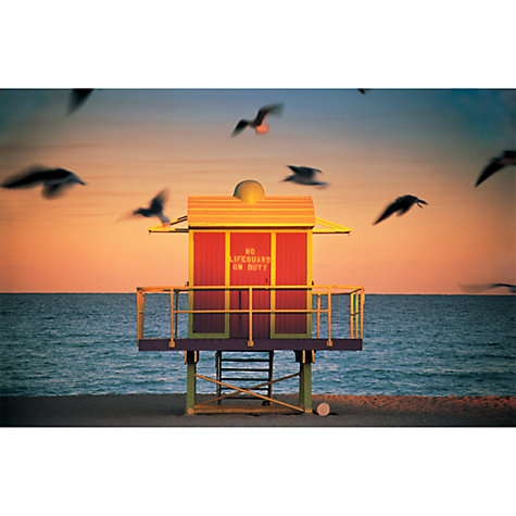 Buy House by John Lewis, Peter Adams - Lifeguard Hut Unframed Print, 30 x 40cm Online at johnlewis.com
