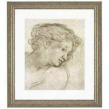 Buy Pietro Berrettini da Cortona - Study of a Head of a Girl Framed Print, 56 x 50cm Online at johnlewis.com