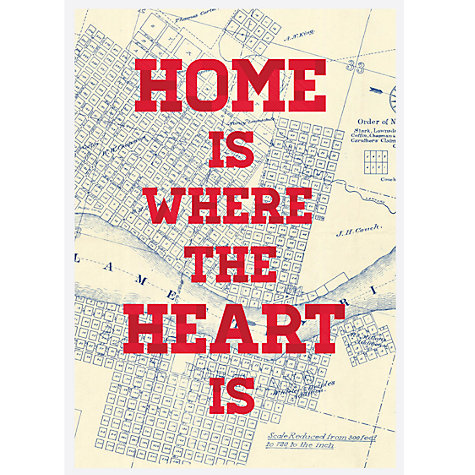 Buy House by John Lewis, Jeremy Harnell - Home Is Where The Heart Is Unframed Print, 40 x 30cm Online at johnlewis.com