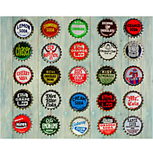 Buy House by John Lewis, Keri Bevan - Bottle Tops Unframed Print, 24 x 30cm Online at johnlewis.com