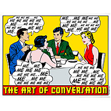 Buy House by John Lewis, Clay Sinclair - The Art Of Conversation Unframed Print, 40 x 30cm Online at johnlewis.com