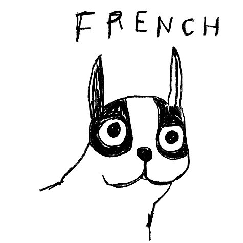 Buy House by John Lewis, Stephen Davids - Woof Frenchie Unframed Print, 40 x 30cm Online at johnlewis.com