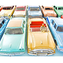 Buy House by John Lewis, Kim Sayer - Vintage Cars Unframed Print, 24 x 30cm Online at johnlewis.com