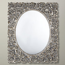Buy Roses Rectangular Mirror, Silver, 56 x 46cm Online at johnlewis.com