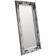 Buy Gallery Direct Carved Louis Leaner Mirror, Silver, 176 x 90cm Online at johnlewis.com