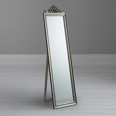 Pimlico Cheval Mirror, Silver, 180.5 x 46cm